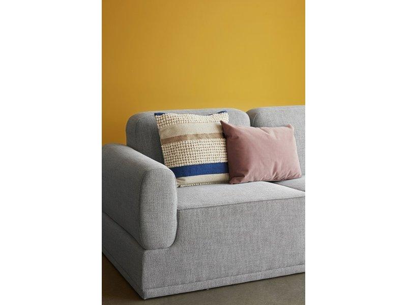Hubsch Modulær sofa lys grå 3-sæde med fodskammel
