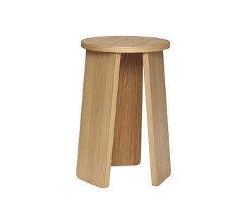 Hubsch Oak stool - natural