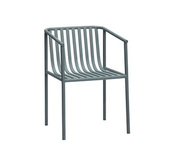 Hubsch Asiento de metal para exteriores - gris