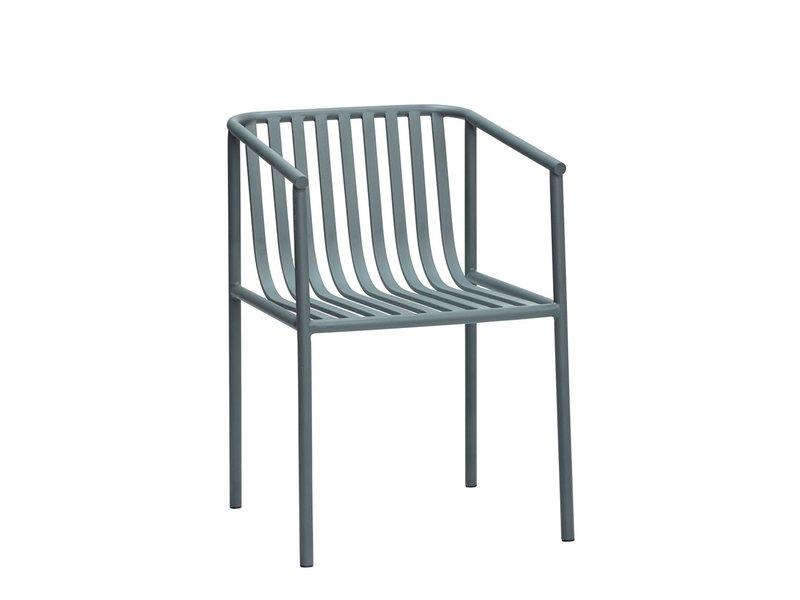 Hubsch Udendørs metal sæde - grå