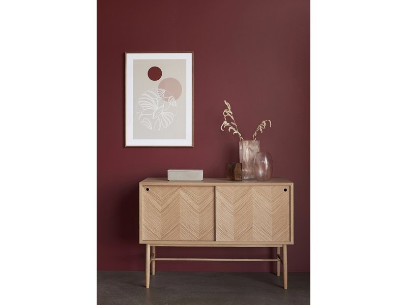 Hubsch Sideboard with sliding doors oak