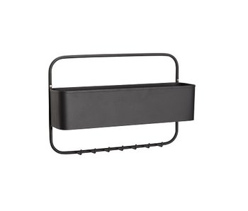 Hubsch Coat rack with storage space - black