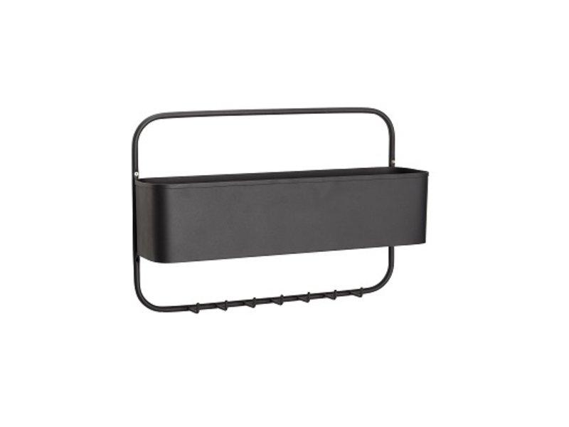 Hubsch Kapstok met opbergruimte - zwart