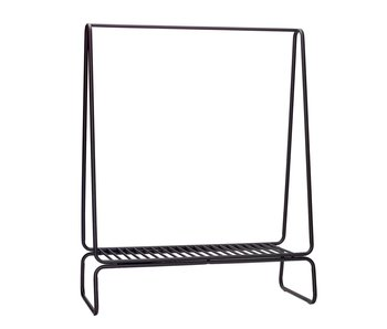 Hubsch Clothes rack metal - black