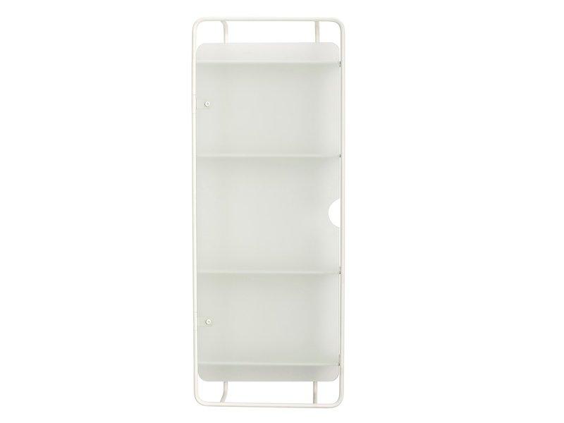 Hubsch Veggenhet metall / glass - hvit