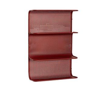 Hubsch Väggsenhet metall - röd