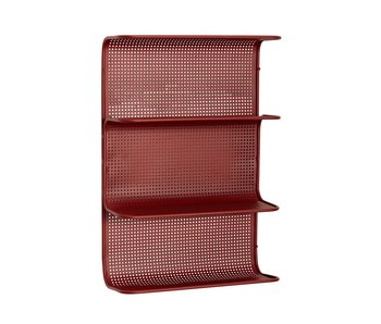 Hubsch Wall unit metal - red