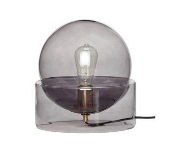 Hubsch Lampe de table en verre - fumée