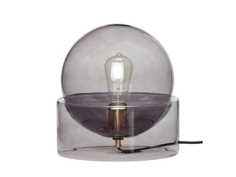 Hubsch Bordlampeglas - røg