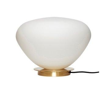 Hubsch Lampe de table en verre / en métal - en laiton / blanche