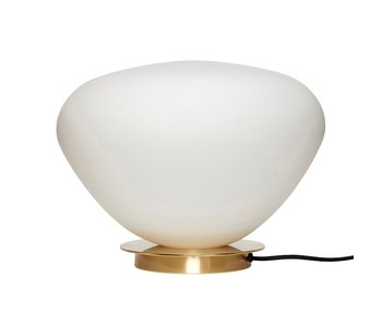 Hubsch Table lamp glass / metal - brass / white