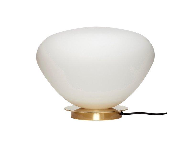 Hubsch Bordlampe glass / metall - messing / hvit