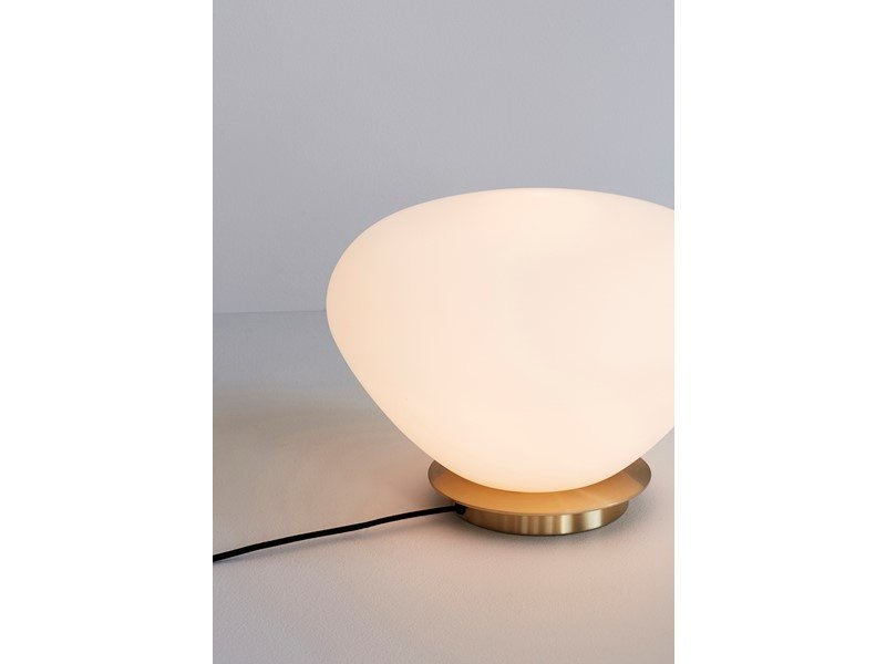 Hubsch Bordlampe glas / metal - messing / hvid