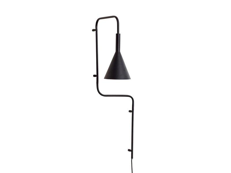 Hubsch Wandlamp - zwart