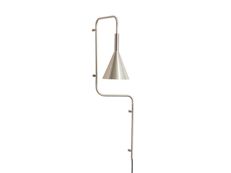 Hubsch Wandlamp - geborsteld nikkel