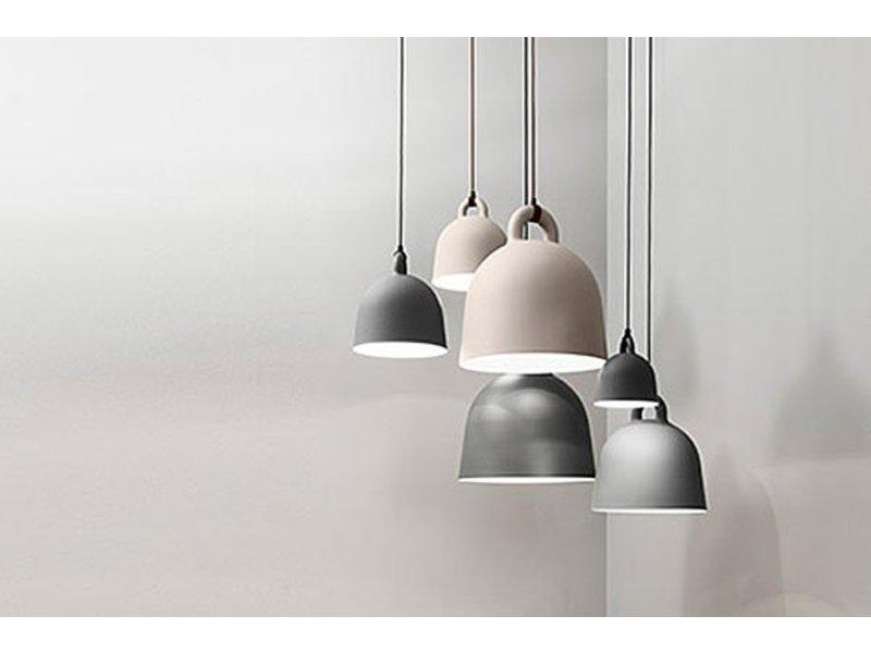 Modernistisk Normann Copenhagen Pendentif moyen de Bell lampe gris - LIVING AND CO. CN-39