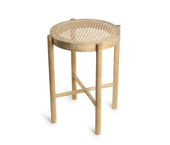 HK-Living Tabouret rétro sangle naturel