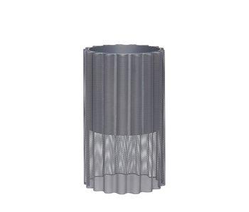 Hubsch Blumentopf Metall - grau