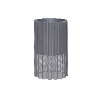 Hubsch Vaso di fiori in metallo - grigio