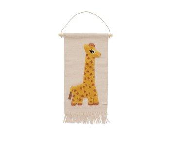 OYOY Vägghängare giraff
