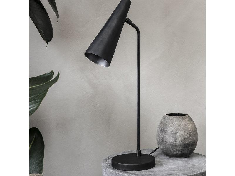 Precise tafellamp mat zwart