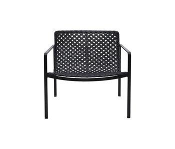 House Doctor Habra chaise avec accoudoirs - noir