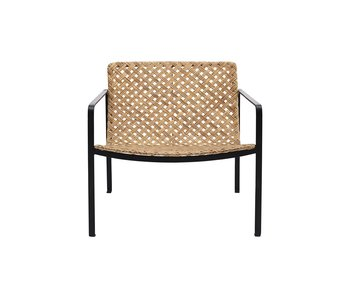 House Doctor Habra chaise avec accoudoirs - naturel