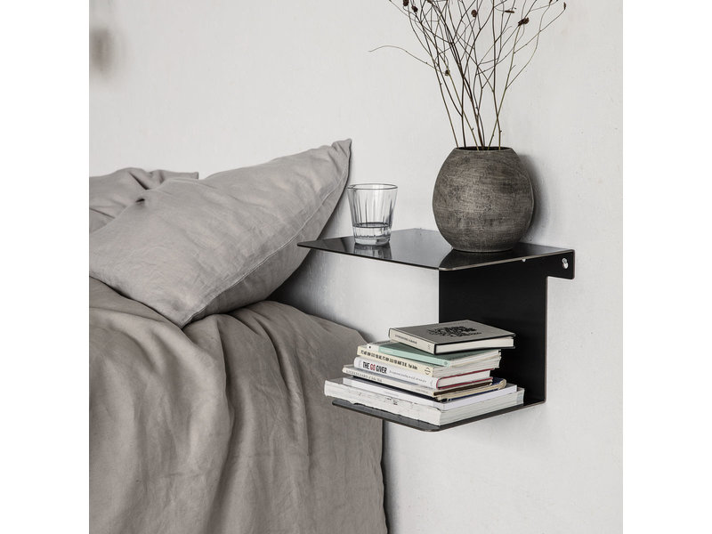 House Doctor Book wandplank - antiek zwart