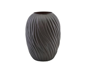 House Doctor Noa vase glass - dark brown