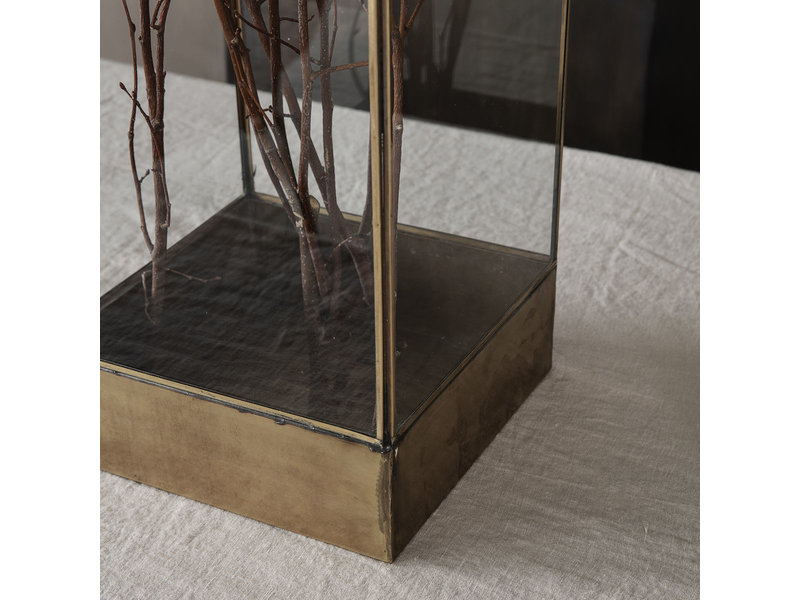 House Doctor Plant display box - antiek messing