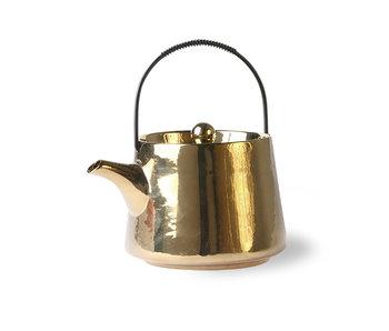 HK-Living Teekanne Gold