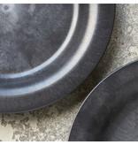 House Doctor Serveur borden - zwart DIA 24cm  - set van 8 stuks