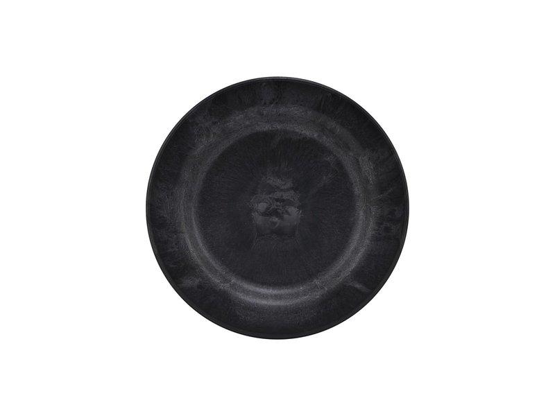 House Doctor Serveur borden - zwart DIA 18cm  - set van 8 stuks