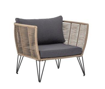 Bloomingville Chaise longue Mundo - marron
