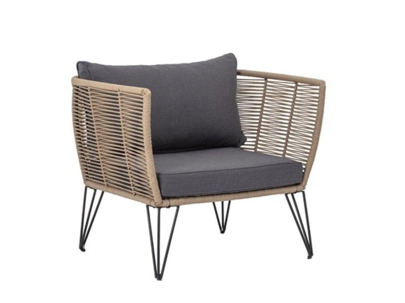 Bloomingville Mundo Lounge stol - brun