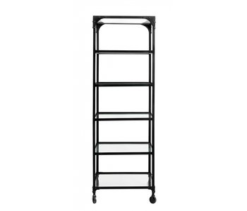 Nordal Iron rack with wheels - black