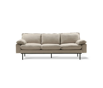 HK-Living Retro 3-seater cozy beige sofa