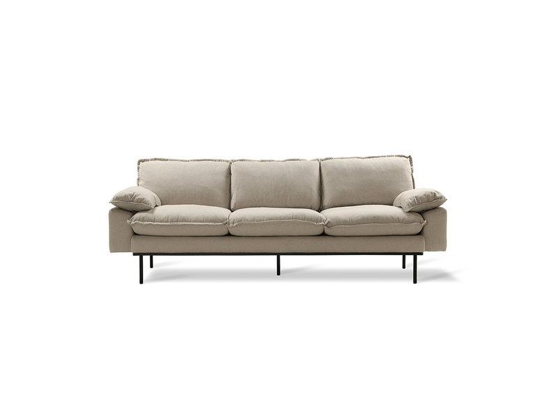 HK-Living Retro 3-seater cozy beige sofa