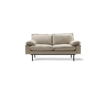 HK-Living Retro Couch 2-Sitzer gemütlich beige