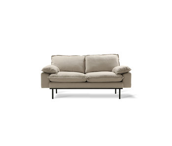HK-Living Retro sofa 2-personers hyggelig beige