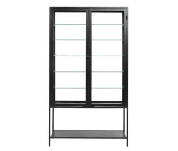 Nordal Mondo cupboard with glass - black