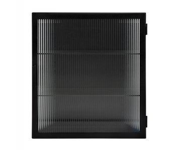 Nordal Groovy wall cupboard - black