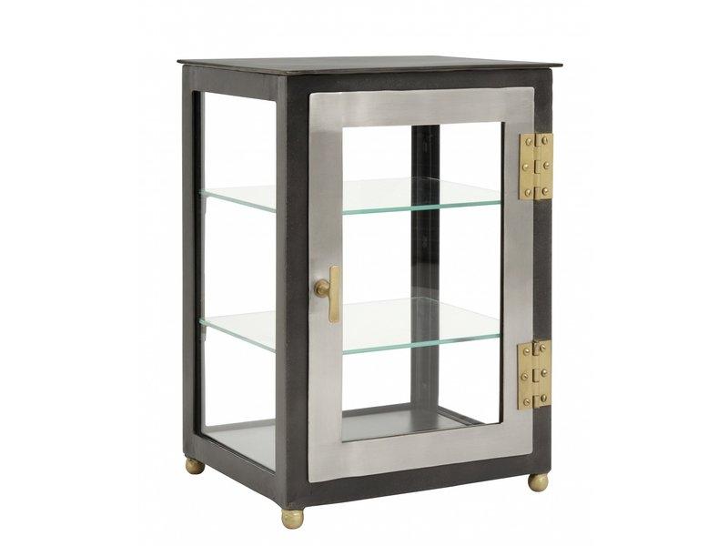 Nordal Glazen kast met 2 deur - grijs