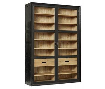 Nordal Viva cupboard with glass doors - black