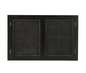 Nordal Merge cupboard with webbing - black