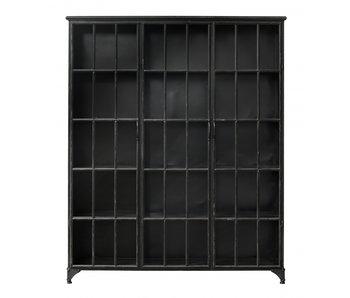 Nordal Downtown ijzeren kast - zwart 150x38x180cm