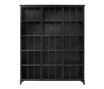Nordal Downtown iron cabinet - black 150x38x180cm
