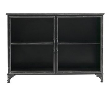 Nordal Downtown iron cabinet - black 104x35x74cm