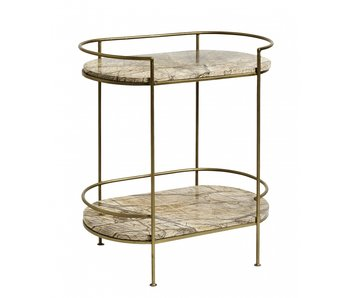Nordal Jungle side table marble - antique gold