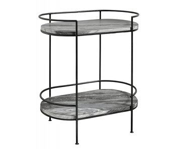 Nordal Midnight side table marble - black
